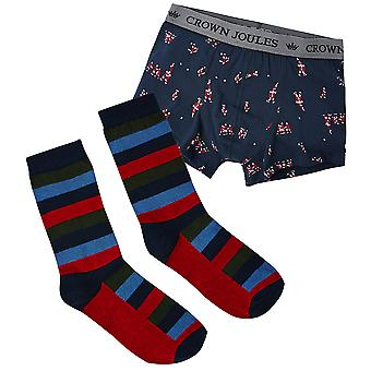 Joules Mens Put A Sock In It 2 Piece Socks and Boxers Set
