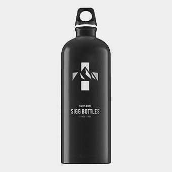 New Sigg Traveller Hydration Mountain Water Bottle 1 Litre Black