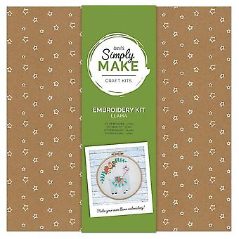 DoCrafts Simply Make Create Your Own Llama Embroidery Kit