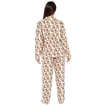 Womens 100% Brushed Cotton Reindeer Pyjama Lounge Set