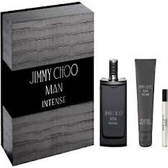 Jimmy Choo Man Intense Gift Set 100ml EDT + 100ml Aftershave Balm + 7.5ml EDT