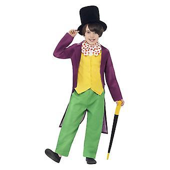 Chłopcy Roald Dahl Willy Wonka Fancy Dress kostium