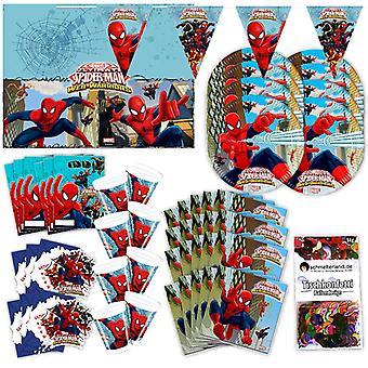 Spiderman Web Warriors Partybox 57-teilig original Deko Marvel Partypaket