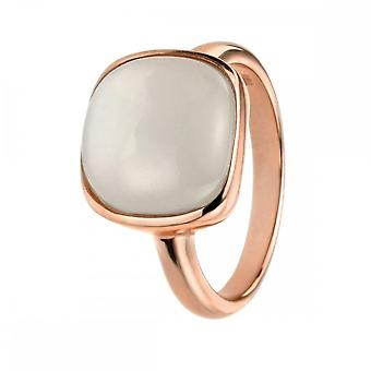 Elements Silver Rose Gold With Cabochon Moonstone Ring R3455N