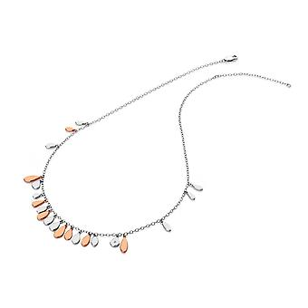 Hot Diamonds Sterling Silver Rose Gold Plate Monsoon Statement Necklace DN139