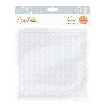 Tonic Studios Layered Leaves Embossing Folder, Clear, 8 x 8-Inch