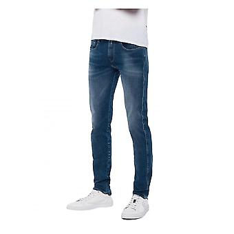 Replay Jeans heren replay Hyperflex plus medium blauw