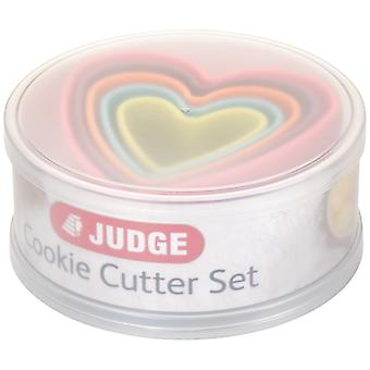 Judge Kitchen, 5 Pce Coloured Cookie Cutter, Hearts