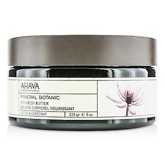 AHAVA Mineral Botanic velluto corpo burro - Lotus & Chestnut - 235g/8oz