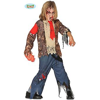 Guirca zombie student student Halloween kostyme for barn