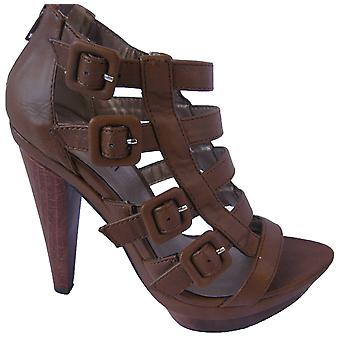 Rascal Cutaway Wood Sole Sandals Heels