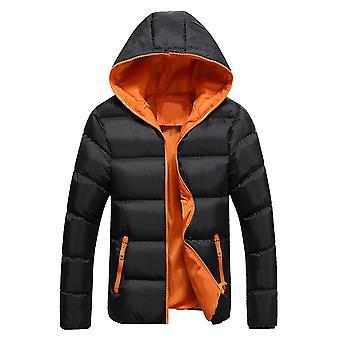 Allthemen Men's Solid Hodded Mantel Winter Warm Outwear Hoodies