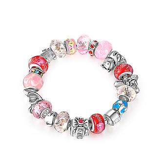 18k white-gold plated iconic bracelet-pink-red