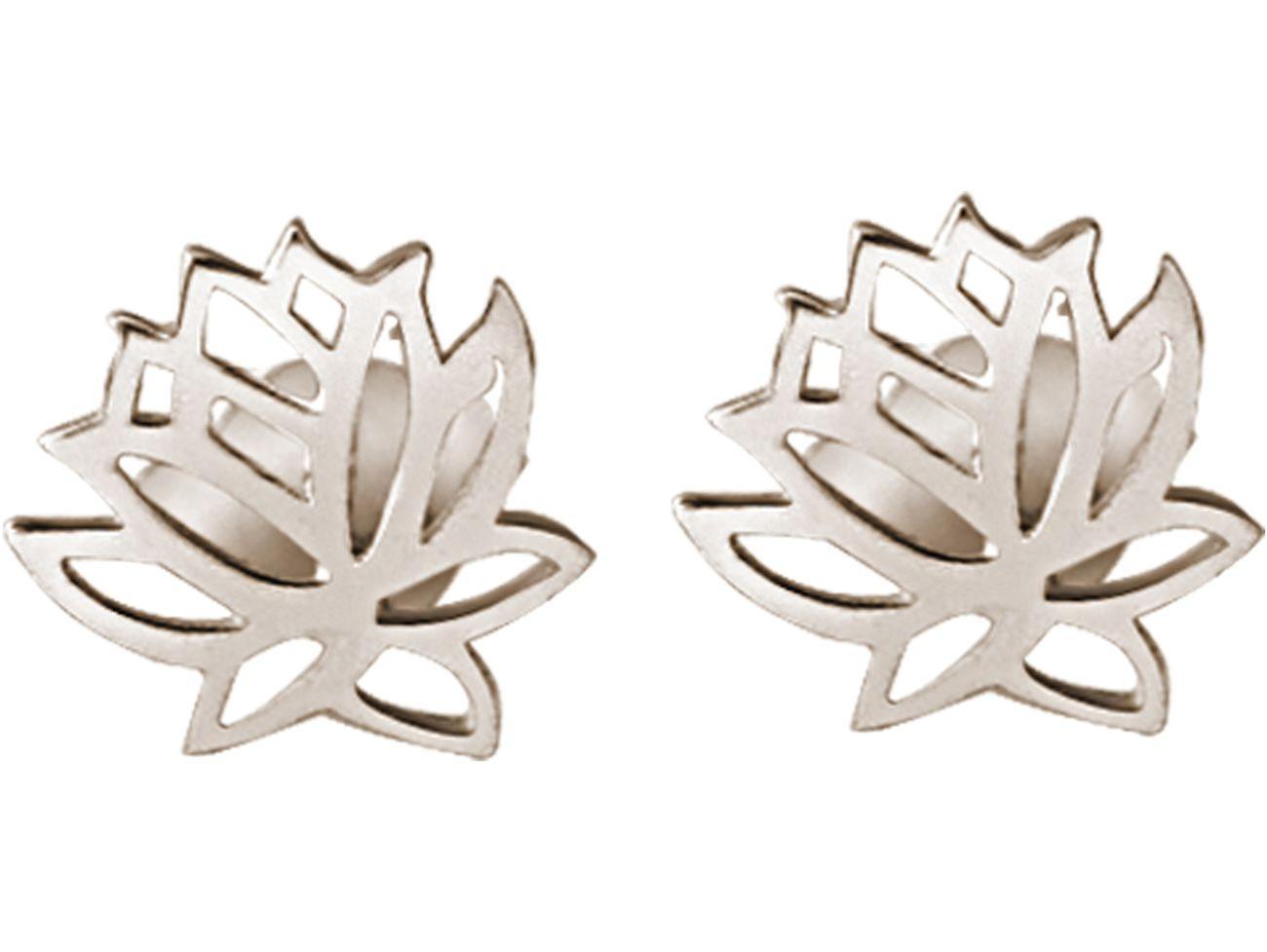 Gemshine Ohrringe Lotusblumen Ohrstecker in 925 Silber, vergoldet oder rose