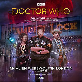 Doctor Who  The Monthly Adventures 252 An Alien Werewolf in London by Alan Barnes & Cover design or artwork by Tom Webster & By composer Joe Meiners & Performed by Sylvester McCoy & Performed by Jessica Martin & Performed by Sophie Aldred & Director Samuel Clemens