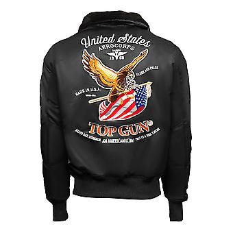 Top Gun Eagle CW45 Bomber Jacket Black
