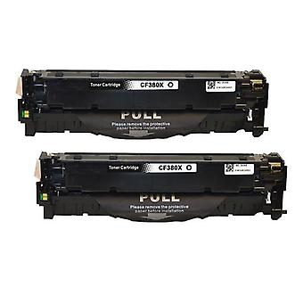 CF380X 312X  Premium Generic Remanufactured Black Toner x 2