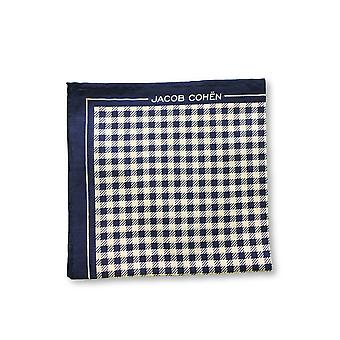 Jacob Cohen Pocket Square in blue/white check design