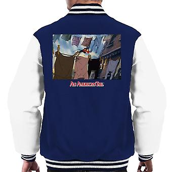 An American Tail Fievel Running On Rope Men's Varsity Jacket