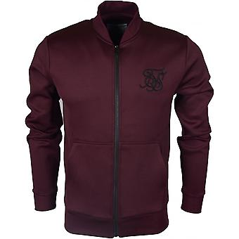 Sik Silk Poly Tricot Polyester Burgundy Zip Up Fleece