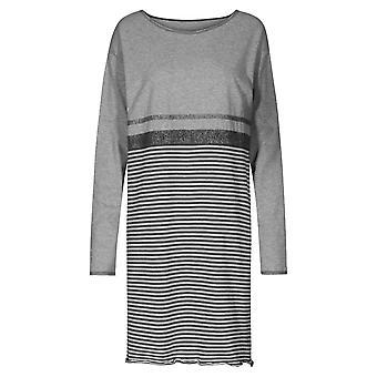 Rosch 1204092-16564 Women's Smart Casual Ringlet Grey Striped Nightdress