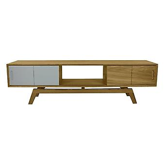 Fusion Living Danish Large Oak And Grey Mix Media Unit