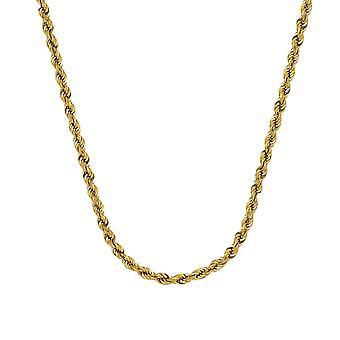 14k Gul Guld Ihåliga Rep Chain Armband 4.9mm Hummer Claw Stängning 8,50 tums smycken gåvor för kvinnor