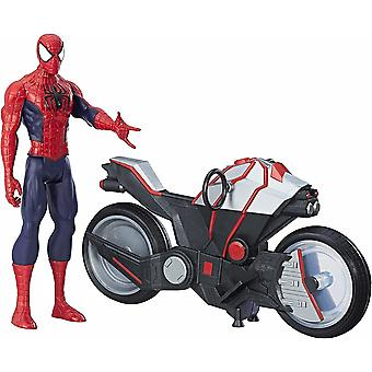Spider-Man Titan Hero Figuur Spider Man Met Spider Cycle 30cm