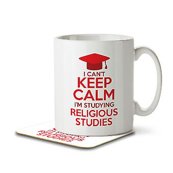 I Can't Keep Calm I'm Studying Religious Studies - Mug and Coaster