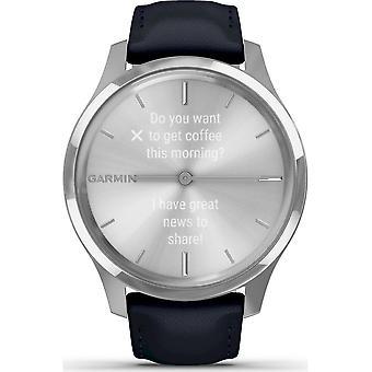 Garmin - Hybrid Watch - vivomove Luxe Silver-Blue - 010-02241-00