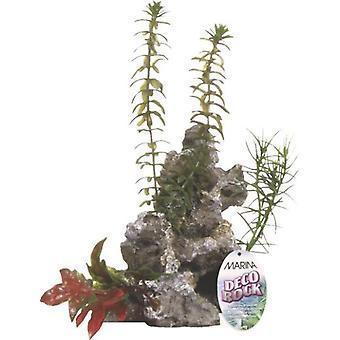 Marina MARINA DECO ROCK - ROCK WITH PLANTS Med (Fish , Decoration , Artificitial Plants)