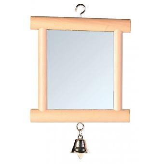 Trixie Mirror with Wooden Frame 9x10 Cm. (Birds , Bird Cage Accessories , Mirrors)
