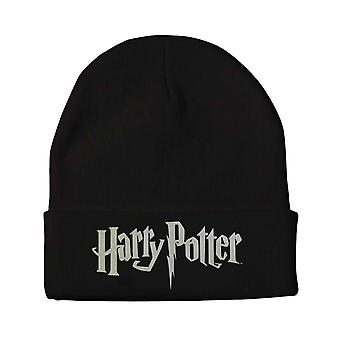 Harry Potter Beanie Hat classic Logo new Official Black