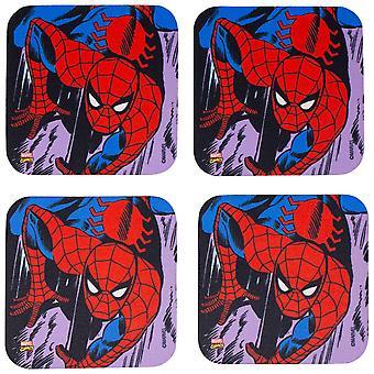 Marvel Spider-Man 4-Piece Neoprene Coaster Set