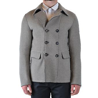 Armani Collezioni Ezbc049134 Men's Grey Wool Coat