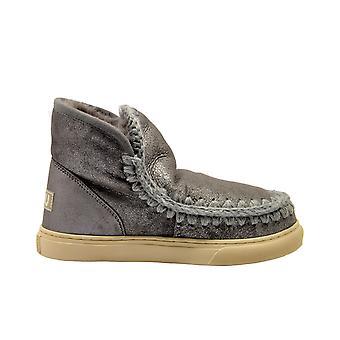 Mou Eskimosneakerduiro Women's Grey Suede Ankle Boots