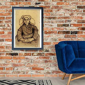 Vincent Van Gogh - Seated Woman, 1885 01 Poster Print Giclee