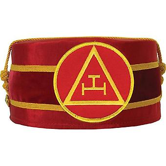Arco real masonic triple tau cap rojo