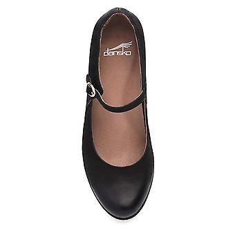 Dansko Womens Loralie Leather Round Toe Ankle Strap Mary Jane Flats
