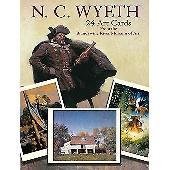 N. C. Wyeth 24 Art Cards - - From The Brandywine River Museum of Art by