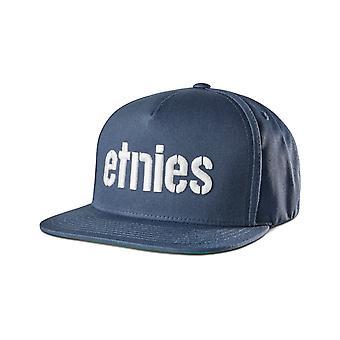 Etnies Corp Snapback Cap in Navy