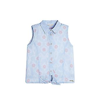 Guess Girls' Viscose Knot Shirt