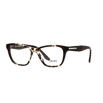 Prada VPR04T U6K1O1 Spotted Opal Brown-Spotted Red Glasses