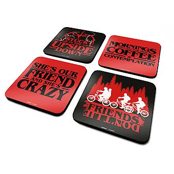 Stranger Things Frázy Coaster4-Pack
