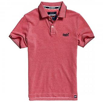 Superdry Poolside Pique S/S Polo Red Twist Y6P