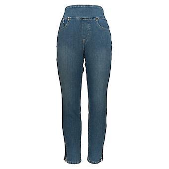 Belle by Kim Gravel Women's Jeans w/ Slim Leg & Ankle Zipper Blue A354260