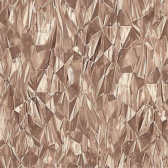 Crushed Foil Crystal 3D Effect Wallpaper Neutral Rose Gold Vinyl Paste Wall P+S