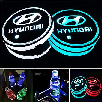 2X Hyundai Led Bottom Plate for Cup Holder