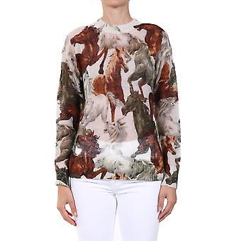 Kenzo Fa62pu5133cc03 Women's Multicolor Wool Sweater