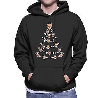 Thunderbirds Christmas Tree Brains Men's Hooded Sweatshirt
